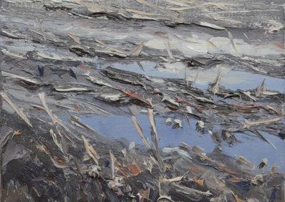 Pfütze im Maisfeld V, 18x24 cm
