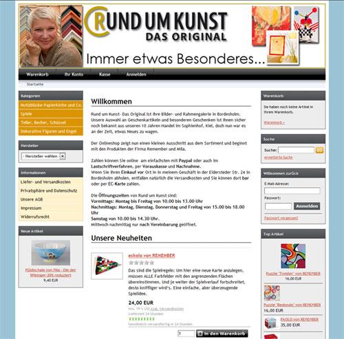 Im Onlineshop von Rund um Kunst gibt es ausgesuchte Geschenkartikel udn einen Einblick in das Sortiment von Rund um Kunst- Das Original.