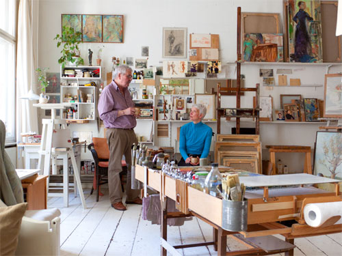 Bernd Krüerke und katrin Göldner im Gespräch