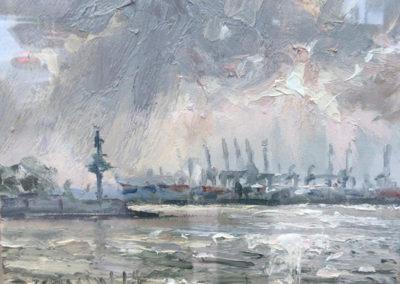 Hamburg Hafen, 24x30 cm
