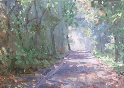 Herbstwald, 24x40 cm