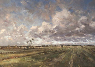 Himmel über Reitbrook, 40x60 cm