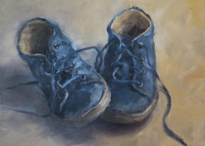 Kleine Stiefel, Öl auf Hartfaser, 24 x 28 cm