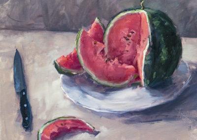 Wassermelone, Öl auf Leinwand, 40 x 60 cm