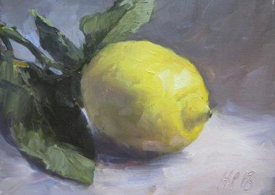 Zitrone II, Öl auf Leinwand, 15 x 20 cm