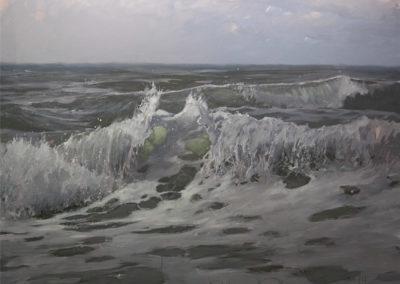 Lars Möller , Seestück , Öl auf Leinwand, ca. 70 x 90 cm