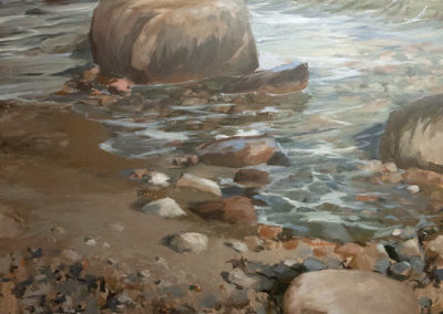 Lars Möller, Steine I , Öl auf Leinwand, ca. 130 x 100 cm