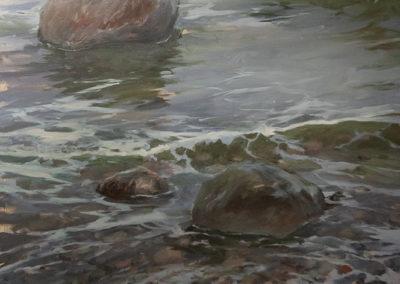 Lars Möller, Steine II, Öl auf Leinwand, ca. 120 x 100 cm
