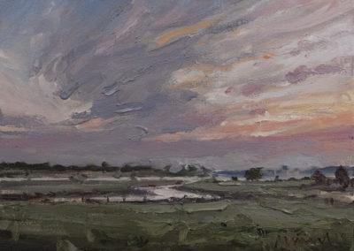 Mathias Meinel, Feld 4 , Öl auf Leinwand, ca. 30 x 40 cm