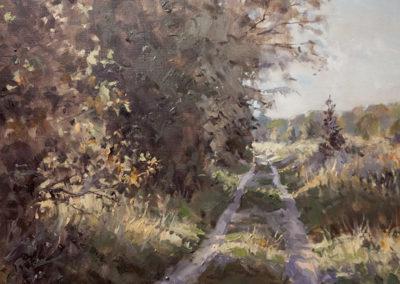 Mathias Meinel, Septemberlicht, Öl auf Leinwand, ca. 60 x 65 cm