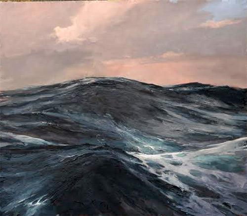 Lars Möller: Open Water,140 x 160 cm, Öl/Lwd, 2013