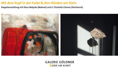 Doppelausstellung mit Klaus Malyska (Malerei) und U. Charlotte Clemen (Steinkunst)