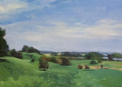 Till Warwas, Landschaft bei Bissee , Öl auf Leinwand , ca. 40 x 60 cm