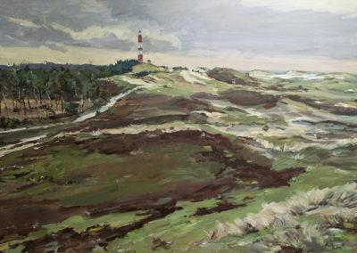Tobias Duwe, Leuchtturm, Öl auf Leinwand, ca. 70 x 100 cm