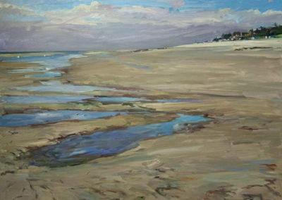 Tobias Duwe, Priel, Öl auf Leinwand, ca. 80 x 100 cm