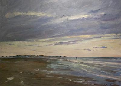 Tobias Duwe, Sylt im Abendlicht, Öl auf Leinwand, ca. 70 x 90 cm