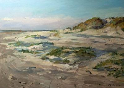 Tobias Duwe, Da gehts zum Meer,Öl aufLeinwand, ca. 50 x 70 cm