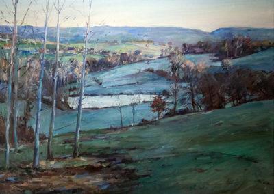 Tobias Duwe, Im frühen Morgenlicht, Öl auf Leinwand, ca. 80 x 90 cm