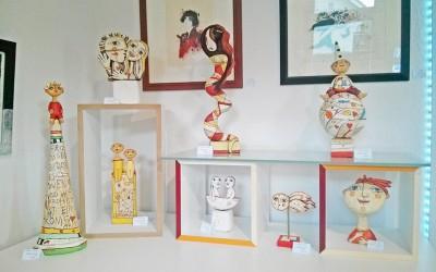 NEU in der Galerie Göldner: Die Figuren von Ulrike Völkl-Fischer